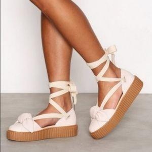Fenty x Puma   Bow Creeper Lace Up Platform Sandal